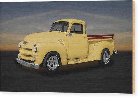 1954 Chevrolet 3100 Series Pickup Truck  -  54chtk544 Wood Print