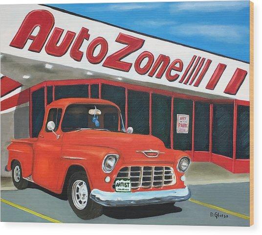 1955 Chevy - Autozone Wood Print
