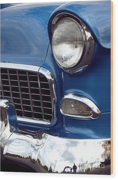 1955 Chevy Front End Wood Print