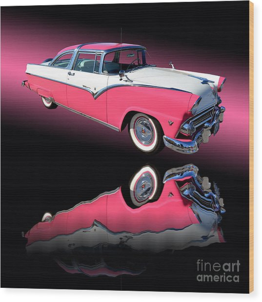 1955 Ford Fairlane Crown Victoria Wood Print