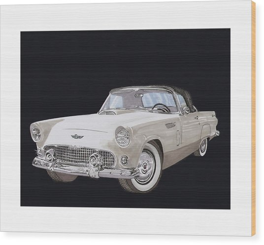 1956 Ford Thunderbird Wood Print
