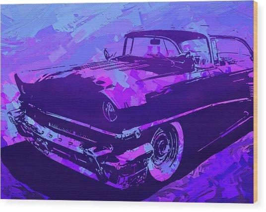 1956 Mercury Hardtop Custom Pop Violet Wood Print