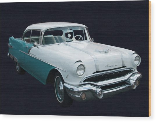 1956 Pontiac Star Chief Digital Oil Wood Print