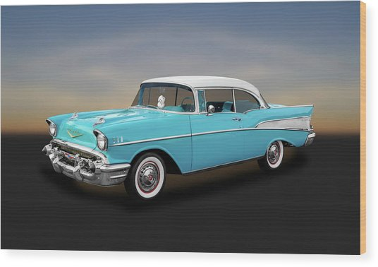 1957 Chevrolet Bel Air Sport Coupe   -   57chspcp260 Wood Print
