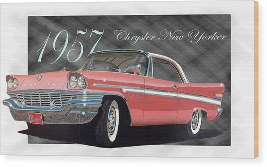 1957 Chrysler New Yorker Wood Print