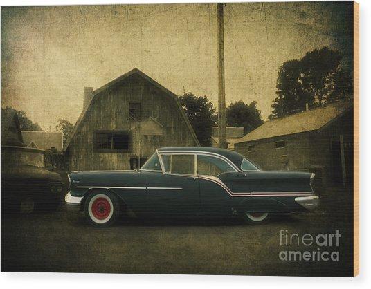 1957 Oldsmobile Wood Print