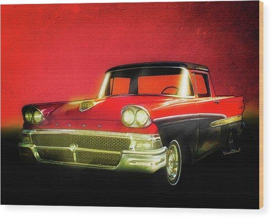 1958 Ford Ranchero 1st Generation Wood Print