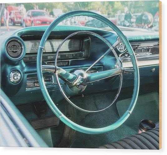 1959 Cadillac Sedan Deville Series 62 Dashboard Wood Print
