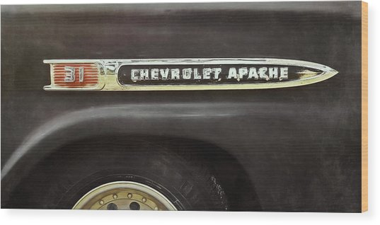 1959 Chevy Apache Wood Print