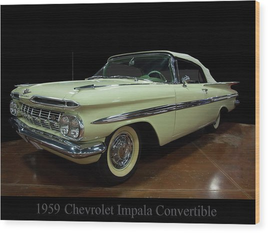 1959 Chevy Impala Convertible Wood Print