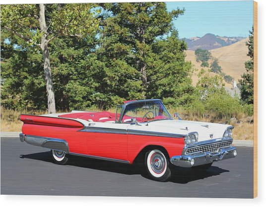 1959 Ford Fairlane 500 Wood Print