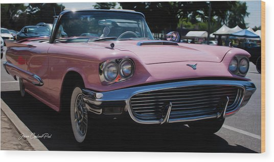 1959 Ford Thunderbird Convertible Wood Print
