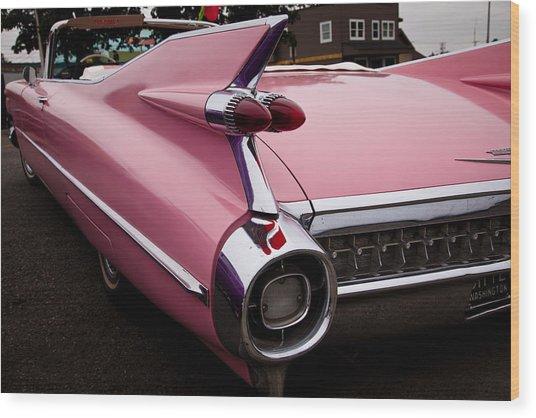 1959 Pink Cadillac Convertible Wood Print