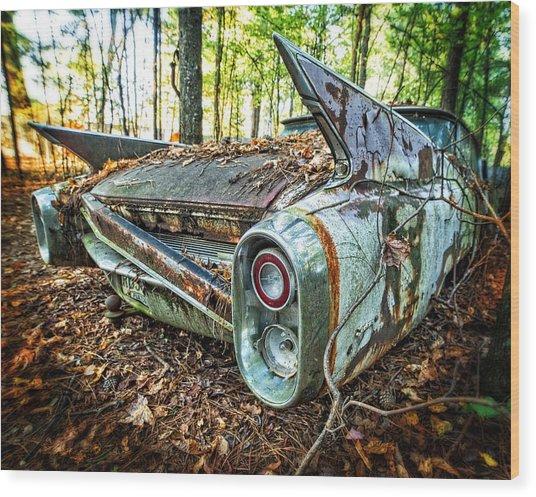 1960 Cadillac At Rest Wood Print