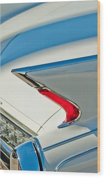 Wood Print featuring the photograph 1960 Cadillac Eldorado Biarritz Convertible Taillight by Jill Reger
