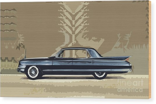 1961 Cadillac Fleetwood Sixty-special Wood Print