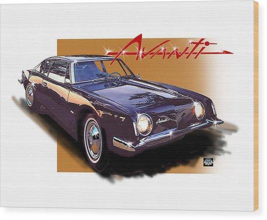 1963 Avanti Wood Print