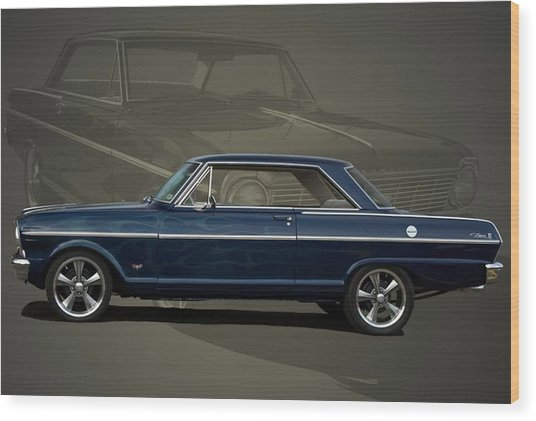 1963 Chevy II Nova Wood Print
