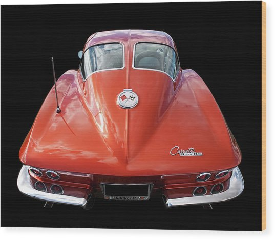 1963 Corvette Stingray Split Window Rear Wood Print