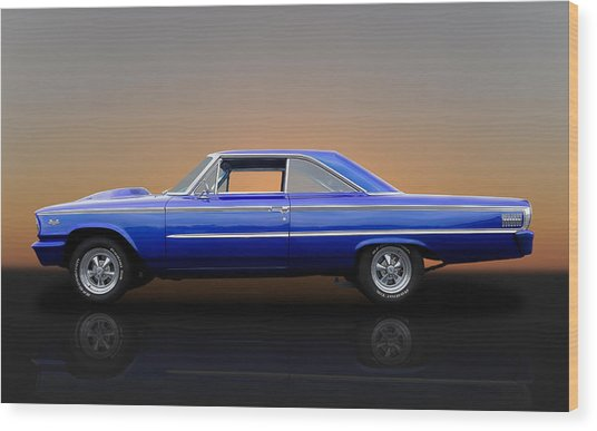 1963 Ford Galaxie 500 - 406 Tri-power Wood Print