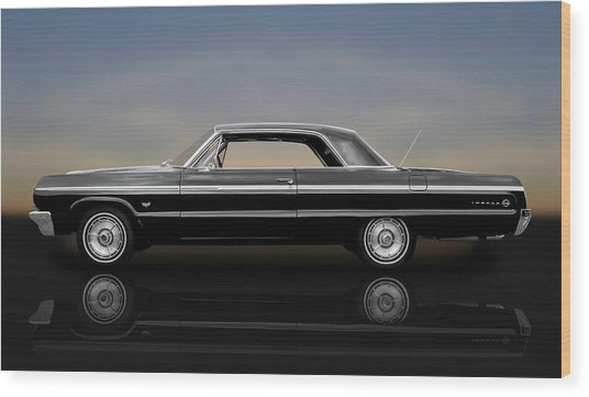 1964 Chevy Impala Super Sport Hardtop  -  1964chimp9591 Wood Print