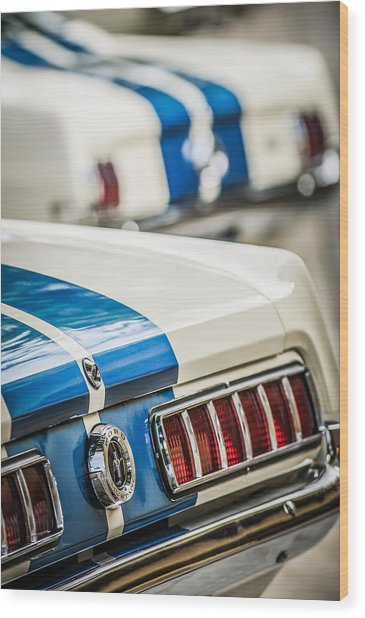 Wood Print featuring the photograph 1965 Ford Shelby Mustang Gt 350 Taillight -1037c by Jill Reger