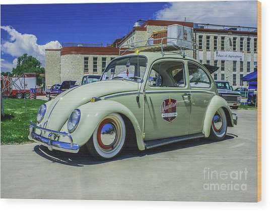 1965 Volkswagen Bug Wood Print