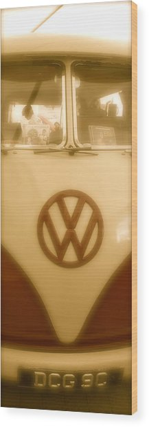 1965 Vw Camper Van Type II Split Screen Wood Print