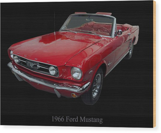1966 Ford Mustang Convertible Wood Print