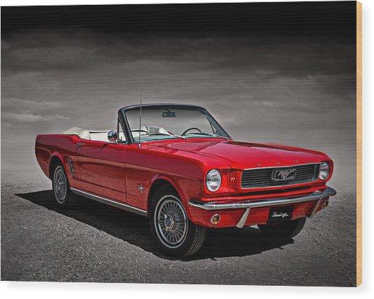 1966 Ford Mustang Convertible Wood Print