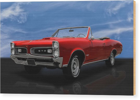 1966 Pontiac Gto 389 Tri-power Wood Print