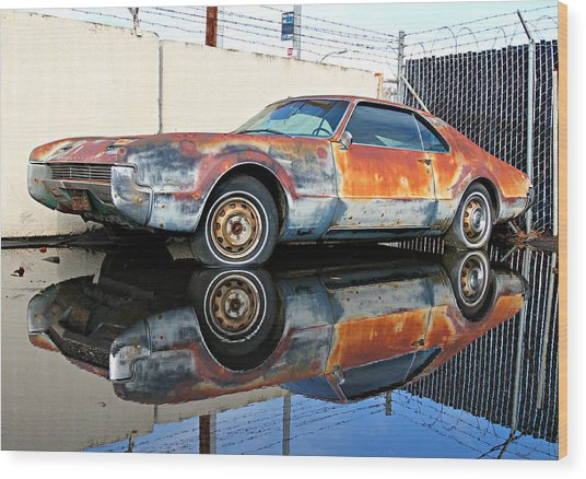 1966 Toronado In Decay  Wood Print