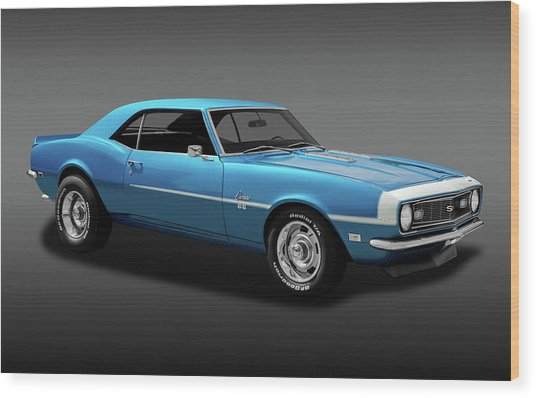 1968 Chevrolet Camaro Super Sport 350   -  1968chevcamaross350fa170414 Wood Print