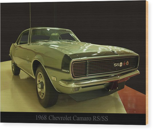 1968 Chevy Camaro Rs-ss Wood Print