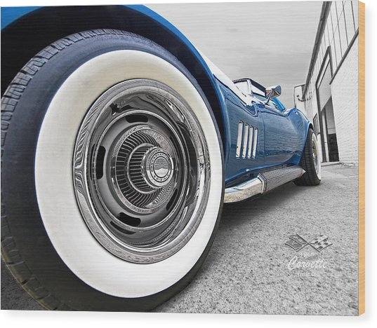 1968 Corvette White Wall Tires Wood Print