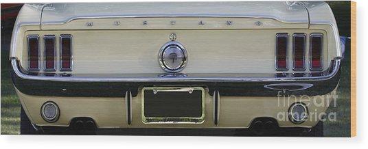 1968 Mustang Gt Fastback Wood Print