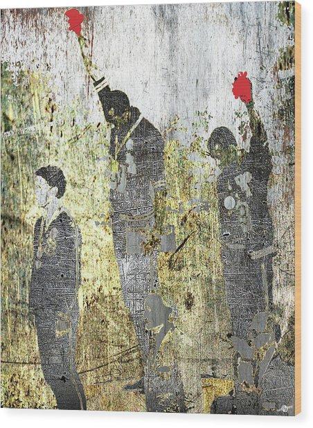 1968 Olympics Black Power Salute Wood Print