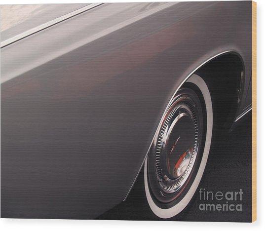 1968 Vintage Lincoln Sedan Fender Wood Print