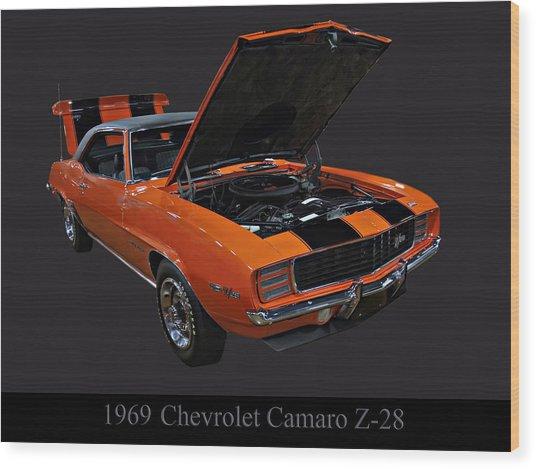1969 Chevy Camaro Z28 Wood Print