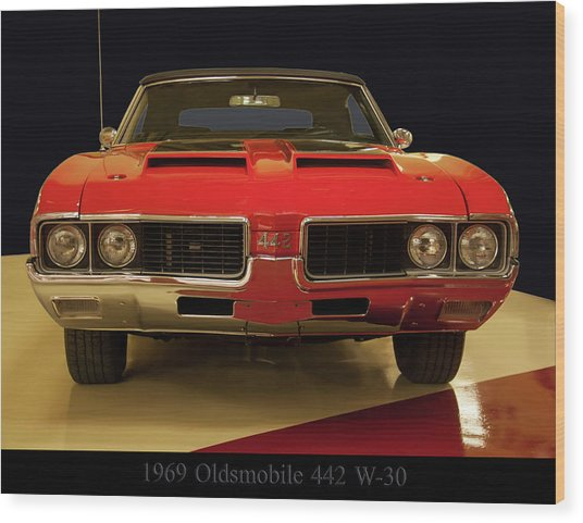 1969 Oldsmobile 442 W-30 Wood Print