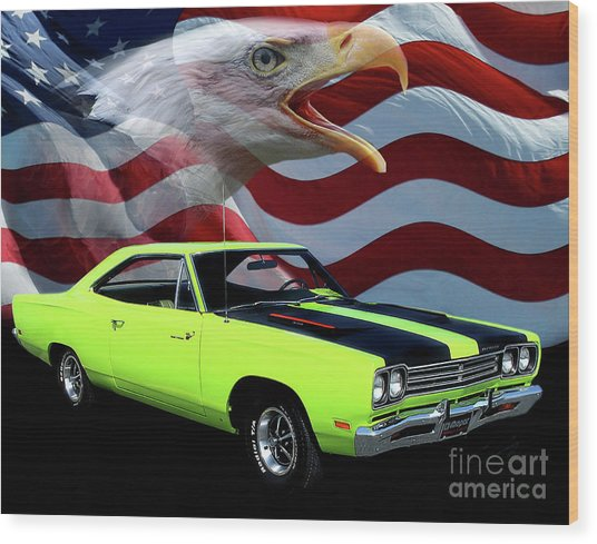 1969 Plymouth Road Runner Tribute Wood Print