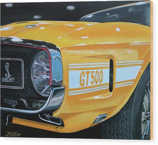 1969 Shelby Gt500 Wood Print by Branden Hochstetler