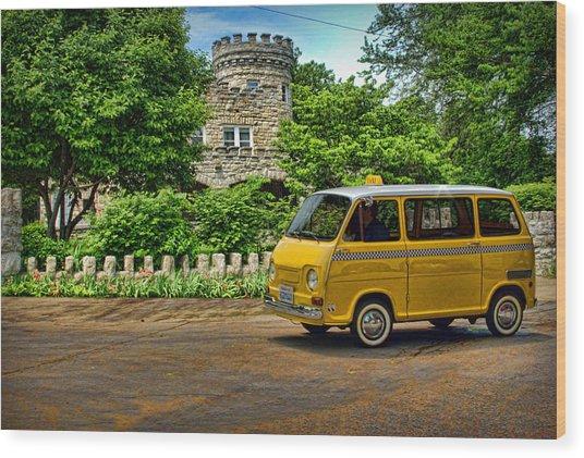 1969 Subaru Model 360 Taxi Wood Print