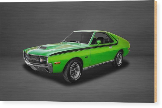 1970 Amc Amx 390 Cubic Inch 4-speed  -  70amcamx3 Wood Print