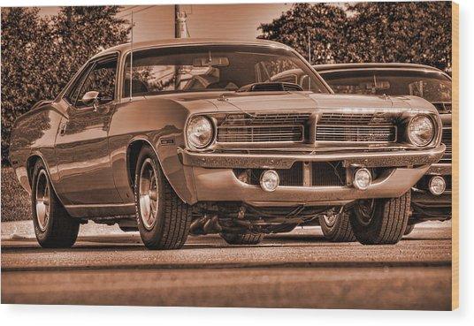 1970 Plymouth Hemi 'cuda Wood Print