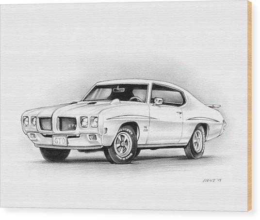1970 Pontiac Gto Judge Wood Print
