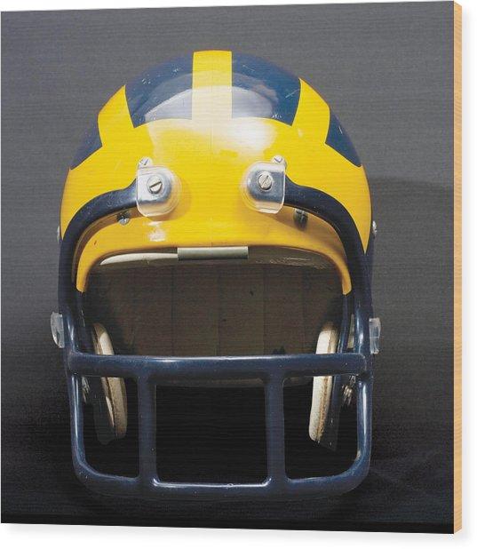 1970s Wolverine Helmet Wood Print