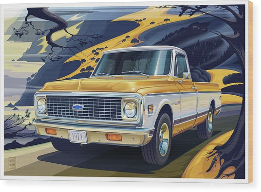 1971 Chevrolet C10 Cheyenne Fleetside 2wd Pickup Wood Print