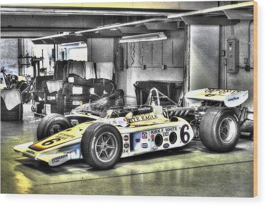 Bobby Unser 1972 Olsonite Eagle Pole Position Car  Wood Print