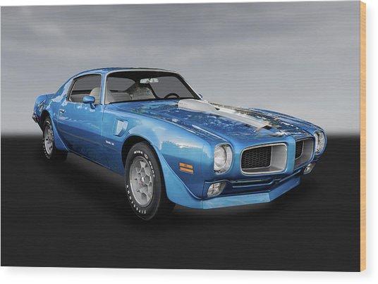 1972 Pontiac Firebird Trans Am 455  -  72pontfibdbw005 Wood Print
